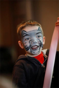 Animal face painting children's party theme, face painting parties for children