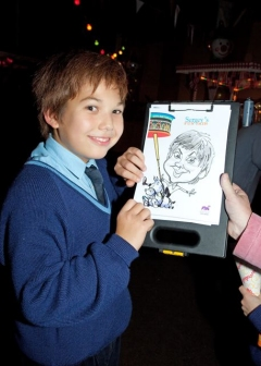 Our Personalised Caricaturist as a roving artist was very popular
