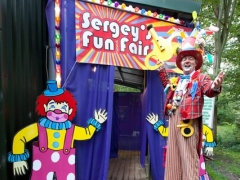 Personalised Welcome Entrance with Birthday Boys name and Meet & Greet Walk about Clown Artist