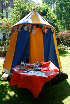 Knights Entertainment themed party, knights parties for children