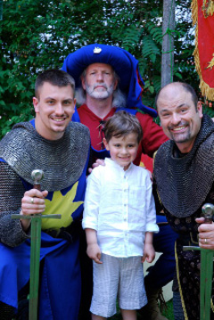 Childrens party organisers - Knights party theme